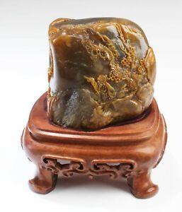 Chino-Esteatita-Tallado-Ornamento