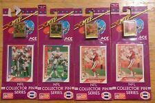 1991 Ace MVP NFL Collector Pin Card Series Lot of 4 Montana  X2 Aikman Sanders