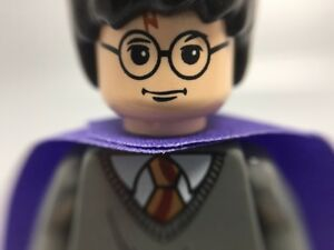 LEGO-Minifigure-hp051-HARRY-POTTER-of-Set-4751-Marauder-s-Map-Violet-Cape-MINT