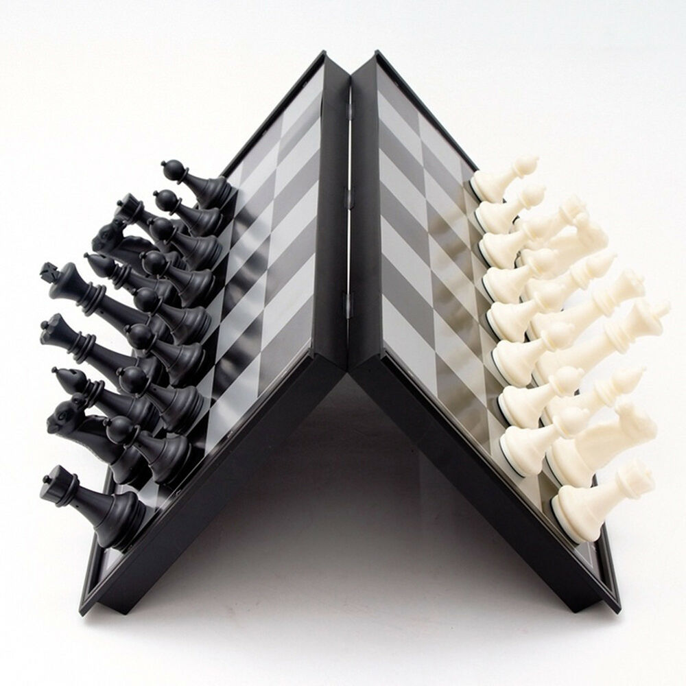 Magnetic Folding Chess Board Set With Pieces Games Sport Cam