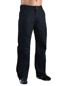 Motorcycle-Jeans-TROUSERS-SHORT-LEG-Black-Hornee-SA-M9