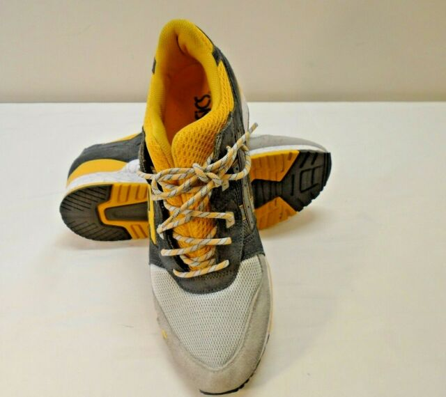 sports shoes e77d4 06d97 ASICS GEL LYTE 3 III Shoes Yellow Grey Split Tongue Mens Sneakers H521N  SIZE 12