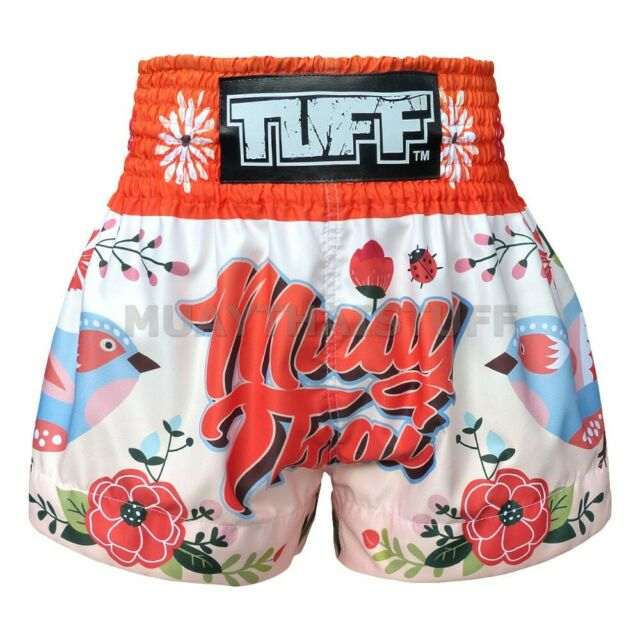 New TUFF Muay Thai Boxing Shorts 633 Kick MMA Training Orange Pink S M L XL XXL