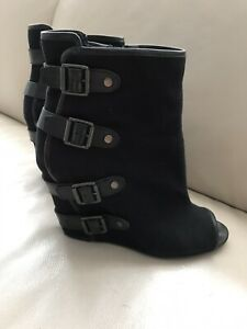ladies black ankle boots size 7   eBay
