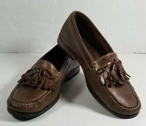 cole haan mens dress shoes brown leather tassel loafers