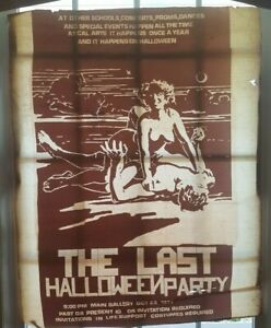SCARCE-CAL-ARTS-COLLEGE-Halloween-Party-Poster-Negative-For-Printing-Ca-1975