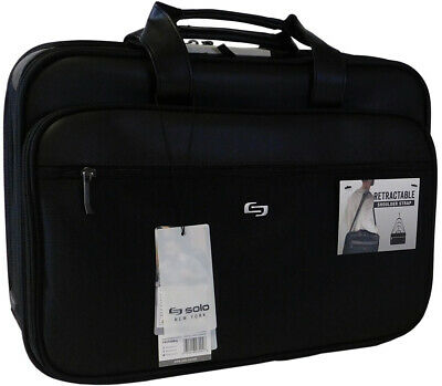 NEW Solo Paramount 16 Inch Laptop Briefcase with Smart Strap Black SHIPS FREE