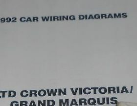 1992 Mercury Grand Marquis Ford Crown Victoria Fold Out Wiring Diagrams Oem Ebay