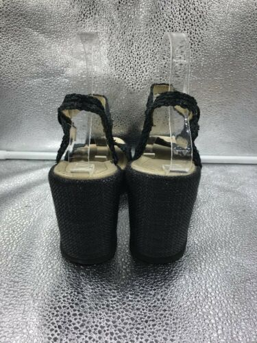 Wedge Sandals Womens Raffia 40 Bromley 7 Platform amp; Black Sz Russell wqz007
