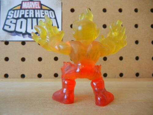 Marvel Super Hero Squad HUMAN TORCH Translucent Clear Orange from Wave 13