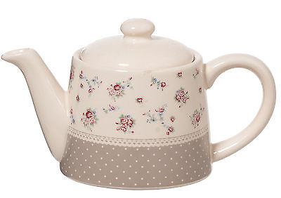TEIERA TEA CAFFETTIERA ROSE CLASSICA PORCELLANA BIANCA BEIGE NACCHI ART. TE37