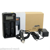 Efest Luc Intelligent Battery Charger For 10440 Through 26650 Sizes. Lcd Display