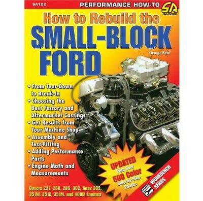 How to Rebuild the Small-Block 400 351 302 289 260 255 Ford Manual Book SA102