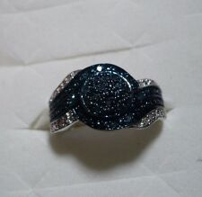 CLEARANCE^^  Blue Velvet Diamond Ring Sz.6 35 diamonds .33tcw MSRP$699
