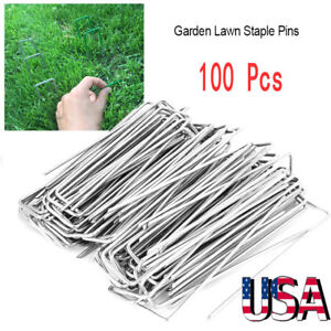 100Pcs-6-034-Landscape-Staples-SOD-Staples-Garden-Stakes-Weed-Barrier-Pins-Pegs