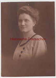 (f12806) Orig. Photo Portrait Jeune Femme, Atelier Chemnitz 1920er-afficher Le Titre D'origine