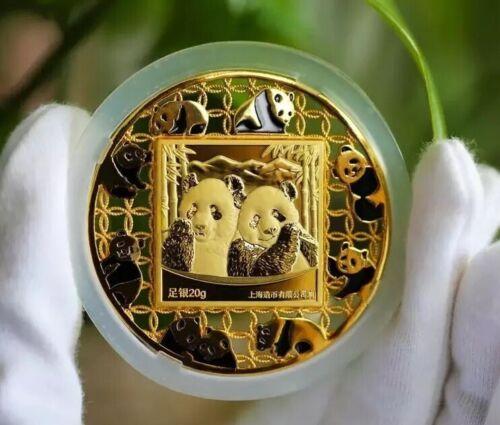 NGC PF69 2019 Shanghai Mint 20g Filament Enamel Silver Panda Medal China COA