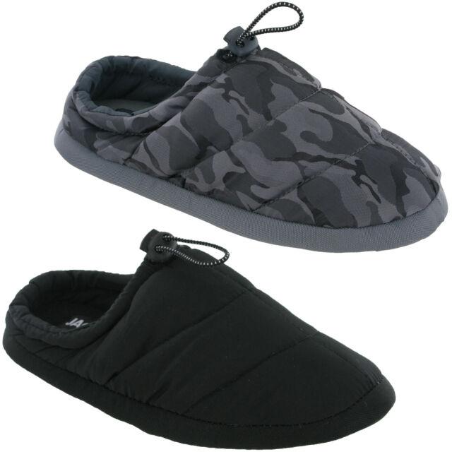 Jack/&Jones Slides Sandals Flip With Socks Mens Padded Soft Cushioned Fashion