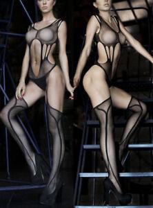 7104-Fishnet-Babydoll-Dress-Sexy-Lingerie-Sheer-Underwear-Sleepwear-BODYSTOCKING
