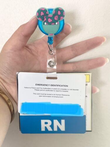 Details about  /Disney ID Badge Holders Reel Nurse Teacher ID