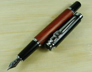 US-Jinhao-8812-Fountain-Pen-Rose-Wood-Barrel-Vintage-Style-Useful-Office-Gift