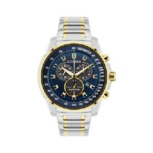 Citizen Eco-Drive Men's Chandler Chronograph Two-Tone Band 44mm Watch AT2374-54L