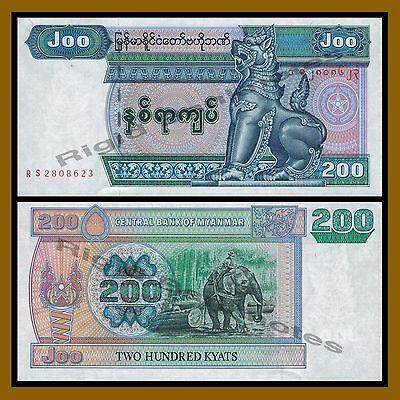 Myanmar 200 Kyats UNC P-78 Lot 10 PCS 2004