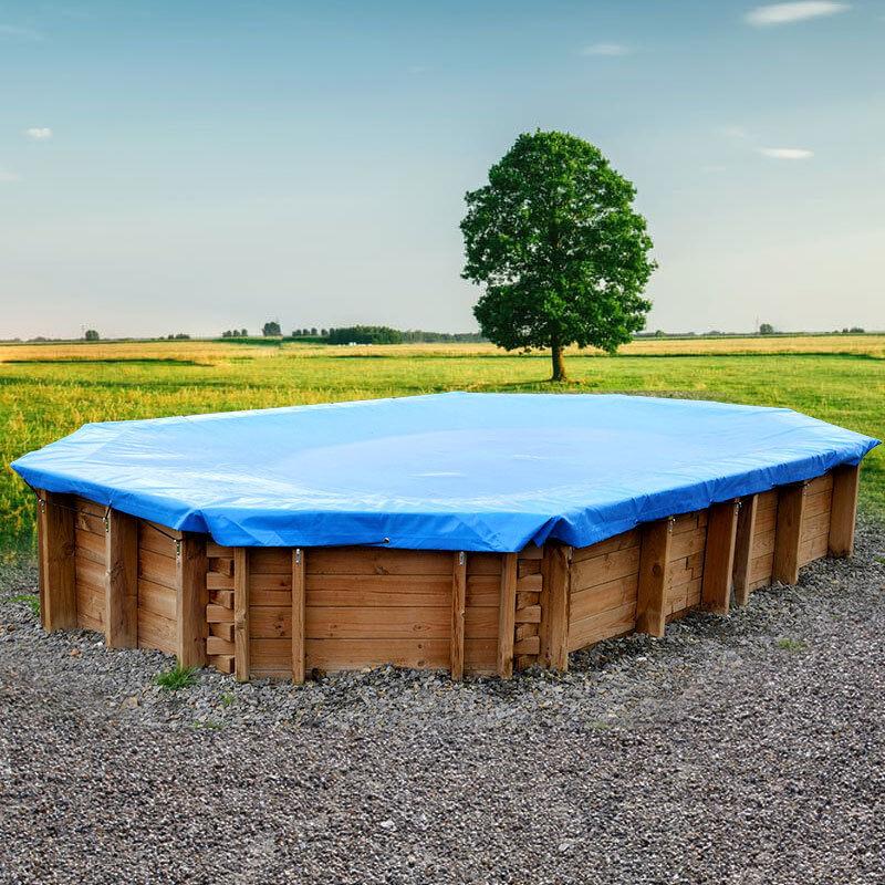 Copertura invernale violate Gre per piscine rotonde fuori terra diametro 455 cm