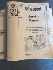Bobcat 331 331e 334 G Excavator Service Repair Manual 6903830 Book Guide Shop