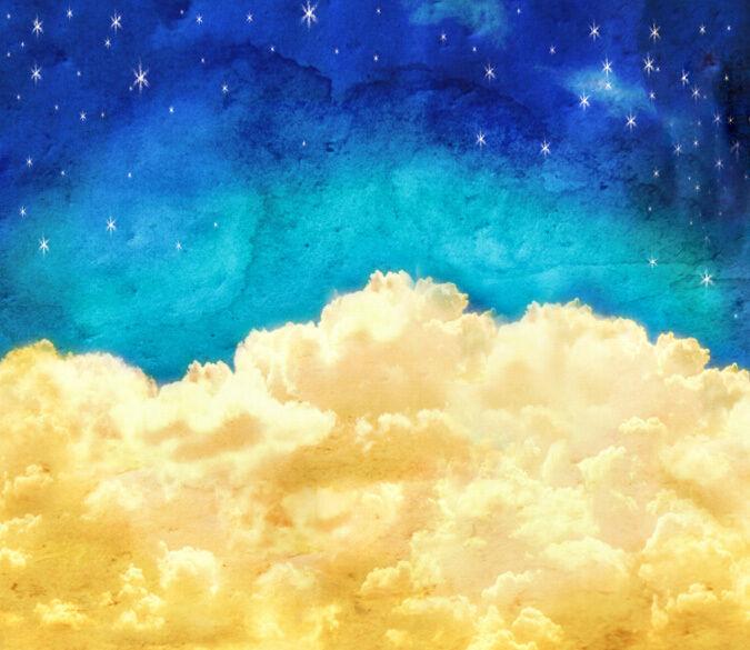 3D Stars sky Blau 3391 Paper Wall Print Decal Wall Wall Mural AJ WALLPAPER GB