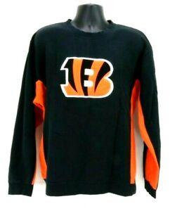 Reebok-Mens-XL-Long-Sleeve-Cincinnati-Bengals-Crew-Neck-Sweatshirt-Black