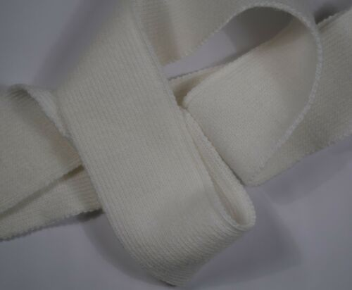 42 mm White Stretch Stretchy Chunky Knitted Woolly Woollen Braid Trim