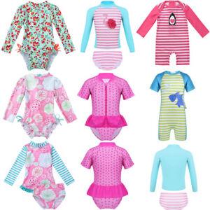 Baby-Girls-Swimsuit-UPF-50-Rash-Guard-Kids-Swimwear-Bathing-Swimming-Suit