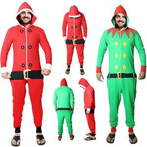 3158a256e25 UNISEX MENS WOMENS RED SANTA GREEN ELF NOVELTY CHRISTMAS LADIES ...