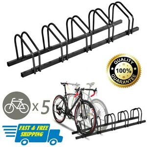 Adjustable Bicycle Floor Parking 5 Bike Rack Stand Storage Garage