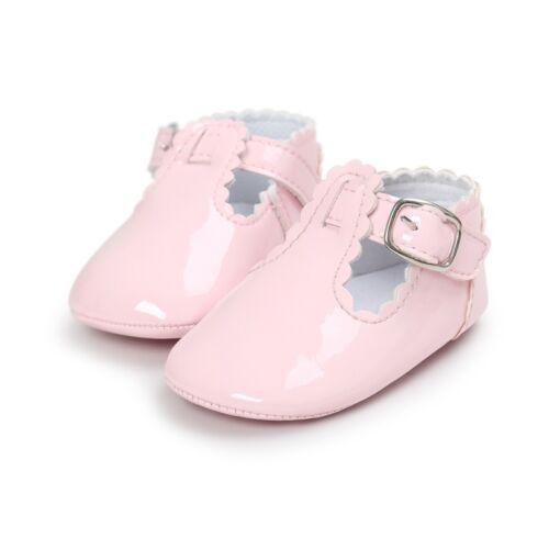 Newborn Baby Girl Bow Anti-slip Crib Shoes Soft Sole Sneakers Prewalker 0-18M US