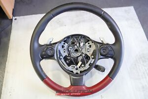 Subaru BRZ TS Tuned by STi Toyota 86 Steering Wheel OEM Genuine Black Red