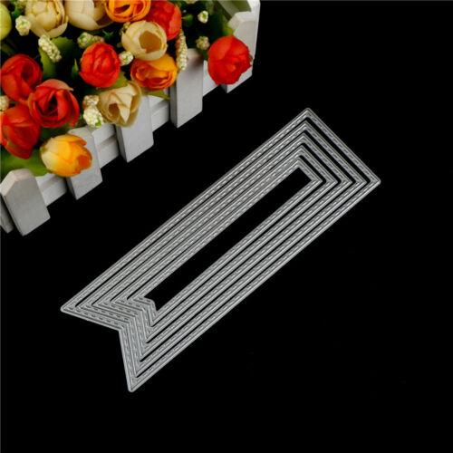 5Pcs Banner Design Metal Cutting Die For DIY Scrapbooking Album Paper Card J/&C