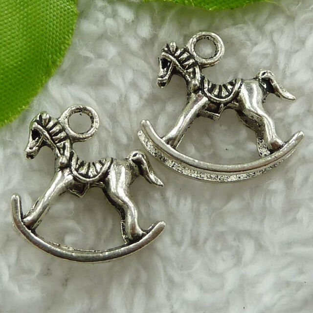 Free Ship 60 pcs tibet silver cockhorse charms 21x20mm #1707
