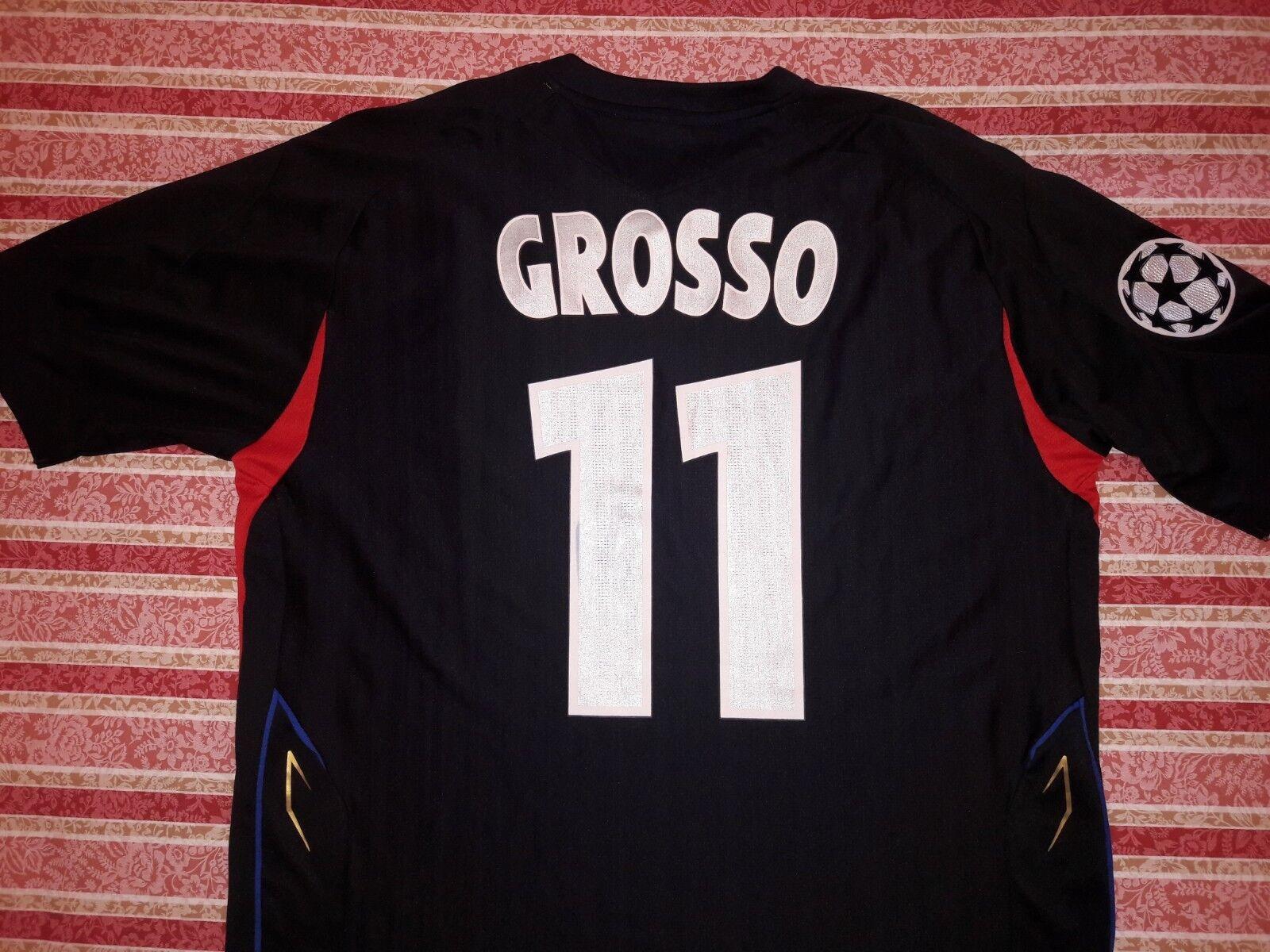 Maglia Grojo LIONE WORN SHIRT Grojo Lyon Olympique Lyonnais OL maillot ITALIA