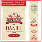 Personalised Santa Sack (small) - Special Delivery Christmas Kids Bag