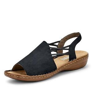 Details zu Rieker Damen Sandale Sandalette Schlupfschuhe Freizeitschuhe Sommerschuh Schuhe