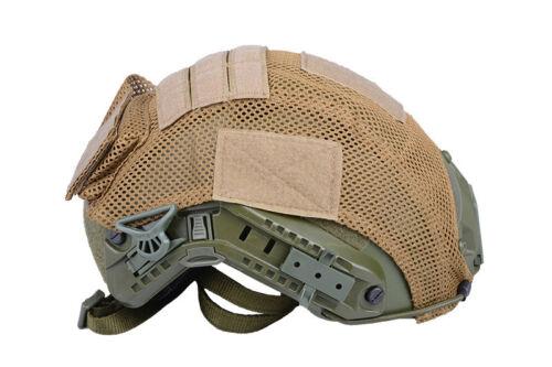 AIRSOFT AEG SOFTAIR funda para casco TAN Fast Helmet cover D.E.