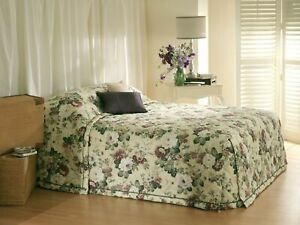 Bianca English Garden Green Bedspread Set Green
