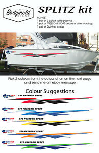 Quintrex-Freedom-Boat-Decals-and-Graphics-034-SPLITZ-Kit-034-1800mm-long