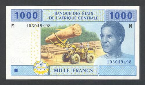 CENTRAL AFRICAN STATES UNC 1 REPUBLIC - 1000 FRANCS 2002 Banknote P 307M