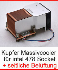 MASSIV PASSIV KUPFER COOPER KÜHLER COOLER + SEITLICHE BELÜFTUNG SOCKET 478 - E40