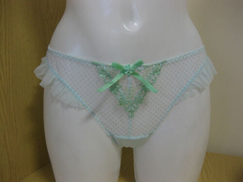 Cleo by Panache George Thong  5139 New Lingerie Green UK M 12