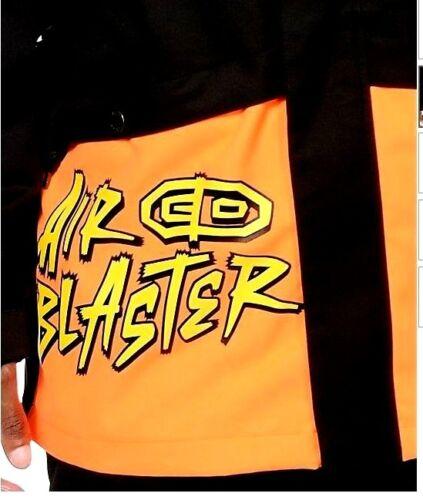 2015 MENS NWT AIRBLASTER JAVIER 10K SAFETY SNOWBOARD JACKET $160 black orange