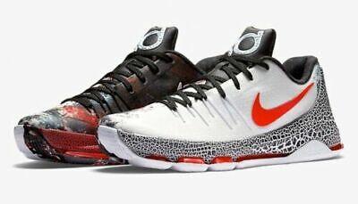 outlet store defa0 2a971 Men's Sz 9.5 .Nike KD 8 Xmas Christmas White Red Black Sneakers 822948-106  883412455725 | eBay